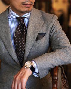 . . 오늘도 행복하자 - - - . . . . #mflorin #suit #shirt #tie #giotto #giotto1267… Mens Fashion Suits, Mens Suits, Fashion Outfits, Black Suit Combinations, Blazer Outfits Men, Light Grey Suits, Men Formal, Fashion Essentials, Suit And Tie