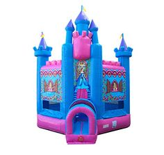 TentandTable Deluxe Pink Princess Castle Inflatable Bounce House - Foot Long x Foot Wide x Foot High - Commercial Grade - Includes: Blower and Stakes Princess Bounce House, Castle Bounce House, Inflatable Bounce House, Inflatable Bouncers, Princess Castle, Pink Princess, Childrens Party, Victorian Era, Things That Bounce