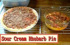 Sour Cream Rhubarb Pie http://www.momspantrykitchen.com/sour-cream-rhubarb-pie.html