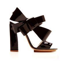 DELPOZO Bow Slingback Sandal (€815) found on Polyvore