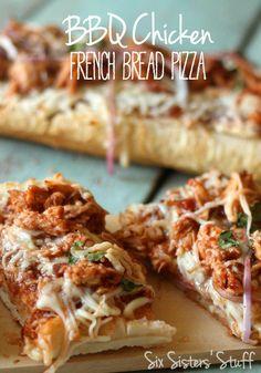 BBQ Chicken French Bread Pizza Recipe | Six Sisters' Stuff