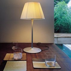 Flos Romeo Soft Small Table Lamp by Philippe Starck Philippe Starck, Flos Lamp, Lamp Bulb, Modern Lighting Design, Modern Design, Table Design, Diffused Light, Light Table, Light Fixtures