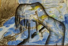 Autore. Nicola soriani  Senza titolo  Anno. 2015 Tecnica. Olio su tela  Sfondo realizzato con la tecnica EBRU
