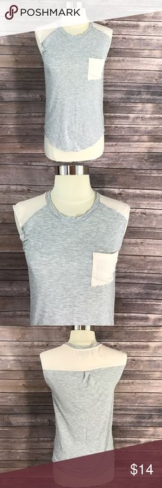 Ann Taylor Loft Tank Top Gray Pink Pocket Shirt Measurements: (in inches) Underarm to underarm: 15 unstretched Length: 24  Good, gently used condition LOFT Tops Tank Tops