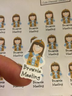 Mark your brownie meetings for your little Girl Scout. 24 stickers are printed on matte paper and ready to peel and stick