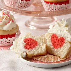 Impress your family with some Valentine's Day magic with cupcakes that hide a heart-shaped surprise.