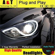 535.00$  Buy here - http://aijgp.worlditems.win/all/product.php?id=32640364600 - Car Styling LED Head Lamp for Hyundai Elantra MD headlights 2011-2014 S-Type Angel eye led drl H7 hid Bi-Xenon Lens low beam