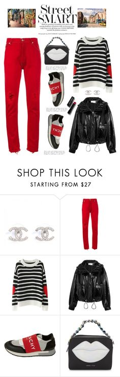 """""""Happy Sunday!!!"""" by shortyluv718 ❤ liked on Polyvore featuring RE/DONE, Wanda Nylon, Givenchy, Kendall + Kylie, Bobbi Brown Cosmetics, Sweater, sneakers, sweaterweather, distresseddenim and graphicbag"""