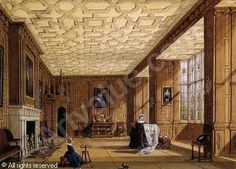 Drawing room at Broughton Castle, Oxfordshire sold by Sotheby's, Merseyside, on Tuesday, June 26, 2001