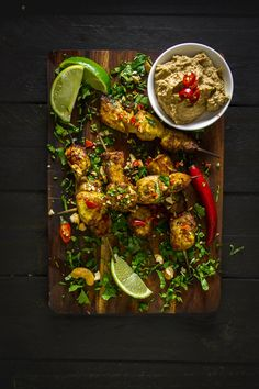 Balinese Chicken Satay Skewers with Cashew Sauce
