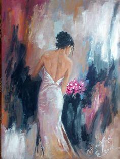 oleo sobre lienzo  la dama