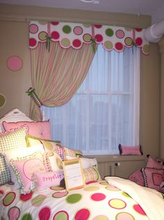 Cute shaped valance or cornice - love how it follows the polka dots! http://lookbook.easternaccents.com/files/2011/11/MM-Chloe.jpg