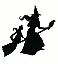 witch stencil for weathervane