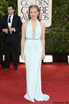 Les plus belles robes des #GoldenGlobes2013: #Jessica #Chastain