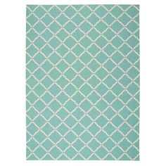 Home and Garden Aqua Indoor/Outdoor Area Rug