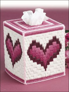 Bargello Hearts Technique - Plastic Canvas
