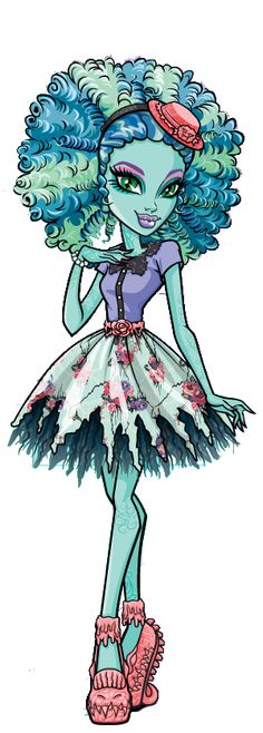 Honey Swamp- I don't watch Monster High, but I love the look of this character!! This would totally be me if I was a Monster High character ^.^ -Hannah Lawrence