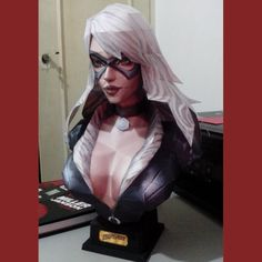 The Black Cat- Felicia Hardy Papercraft bust