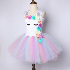 0ec8988d9b07 Flower Rainbow Princess Unicorn Costume Diy Unicorn Costume, Unicorn Party, Unicorn  Dress, Halloween