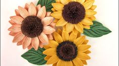 Quilling Sunflowers in 3D optic