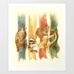 House Brawl Art Print by Alice X. Zhang - $15.00