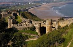 Scarborough Castle, England. Used early on by the Roman Army, the Vikings, and lastly by British forces....