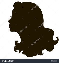 stock-vector-silhouette-of-a-beautiful-young-woman-with-long-curly-hair-black-silhouette-on-a-white-background-296222939.jpg (1500×1600)