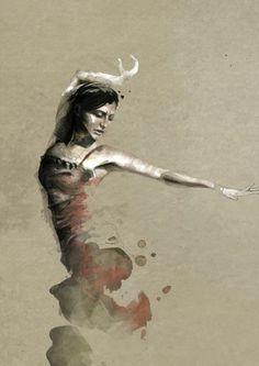 As belas mulheres na aquarela de Mario Alba