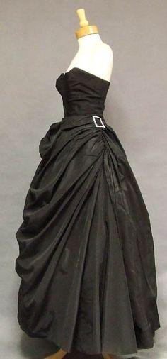 Vintageous, LLC - ASTOUNDING Fred Perlberg Draped Taffeta 1950's Ball Gown w/ Rhinestone Buckles, $375.00 (http://www.vintageous.com/astounding-fred-perlberg-draped-taffeta-1950s-ball-gown-w-rhinestone-buckles/)