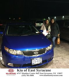 Got a car today from Eduardo Castillo at Kia of East Syracuse. Thank you so much for your patience and Excellent Service!! Love my new Kia Forte!! - Alicia Alivero, Thursday, January 22, 2015 http://www.kiaofeastsyracuse.com/?utm_source=Flickr&utm_medium=DMaxxPhoto&utm_campaign=DeliveryMaxx