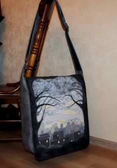 Morning cityQuilt / Patchwork Handmade Bag with by SHaMaNsThings