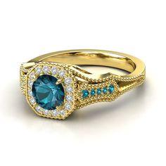 Round Ruby Rose Gold Ring with Diamond & Black Diamond - Melissa Ring Piercings, Platinum Diamond Rings, Yellow Gold Rings, Rose Gold, Antique Jewelry, Metal Jewelry, Jewelry Box, Fine Jewelry, Amethyst
