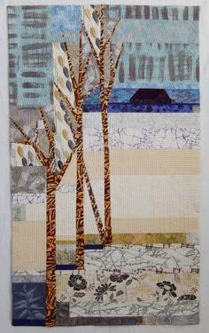 """Seasonal Remembrance, 58 3/4""""h x 35""""w, by Linda Beach"""