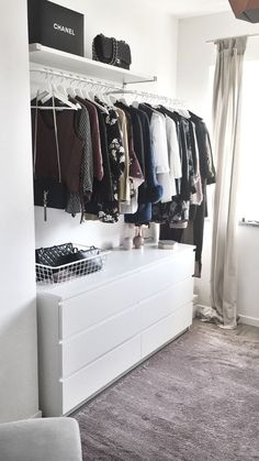 home_decor - My new walk in closet! walkincloset project home fashion shopping style clothes ikea malm ideas Ikea Bedroom, Closet Bedroom, Bedroom Storage, Bedroom Ideas, Closet Walk-in, Ikea Closet, Closet Ideas, Closet Hacks, Walking Closet
