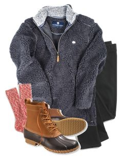 """""""gray fleece for a gray day"""" by apocketfulofprep ❤ liked on Polyvore featuring Madewell, J.Crew and L.L.Bean"""