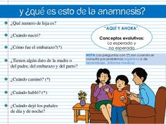 Y ¿qué es esto de la Anamnesis? ¿Qué numero de hija es?  ¿Cuándo nació? ¿Cómo fue el embarazo?(*) ¿Tienen algún dato de la...