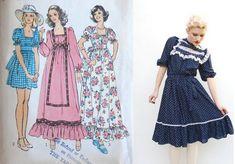 1970s Prairie Dresses