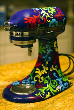 Olive Tree Works - made this washable appliance vinyl decal.  Great for a custom kitchen aid mixer look.