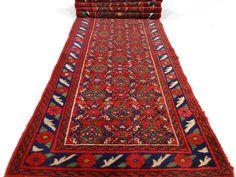"""Perzisch tapijt/loper - """"Lange Hamadan loper"""" - Midden vorige eeuw."""