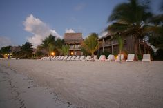 The beach is just steps from your room at Ramon's Village in Belize... How it should be on tropical dive trips!
