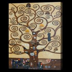 Gustav Klimt, Tree of Life (affordable line) - Hand Painted Oil Painting on Canvas Gustav Klimt, Klimt Art, Tree Of Life Art, Canvas Art, Canvas Prints, Klimt Prints, Framed Canvas, Framed Wall, Oil Painting Abstract