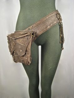 leather hip bag, thigh bag, burning man, tank girl, mad max, utility belt, bondage, apocalyptic, fetish : Renegade Icon designs