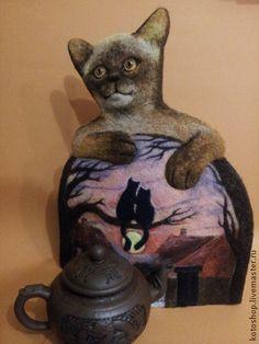 """""""В городе Сочи темные ночи"""" котогрелка - кот,грелка на чайник,коты и кошки"""