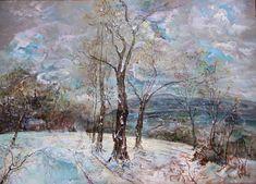 Beskidzki pejzaż zimowy-akryl-50x70-Kańtoch Mirosław ARTMI - Mirosław Kańtoch - Artmi - impresjonizm, obrazy na sprzedaż