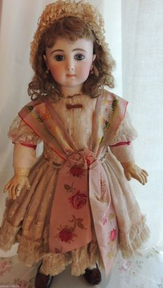 Antique Jumeau Triste French Doll Size 12, As SEEN in ANTIQUE DOLL COLLECTOR!! | eBay