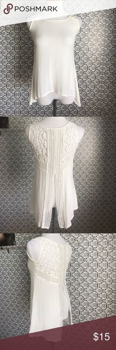 Stunning summer open back white tank Handmade in India extra small gorgeous crocheting, lightweight open back woman's tank japna Tops Tank Tops