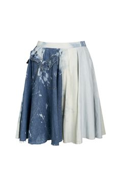 Sylwia Rochala, all season, Boro jeans skirt, blue. To download high or low resolution product images view Mondrianista.com (editorial use only).