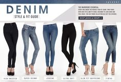Denim Size and Fit Guide