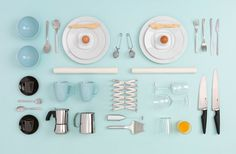 Ikea's kitchenware, again shot from above by Carl Kleiner and styled by Evelina Bratell.