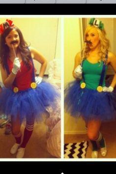 Mario and Luigi Costume @Melinda W Dolinger I wanna do this for Halloween :D